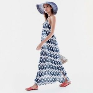 J Crew Ikat Halter Maxi Dress Swim Coverup